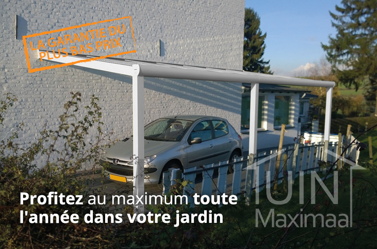 moderne gumax carport en mat creme