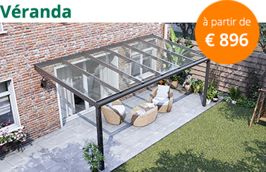 Véranda avec toit en verre a partir de 896