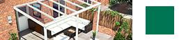 veranda creme avec toit en verre
