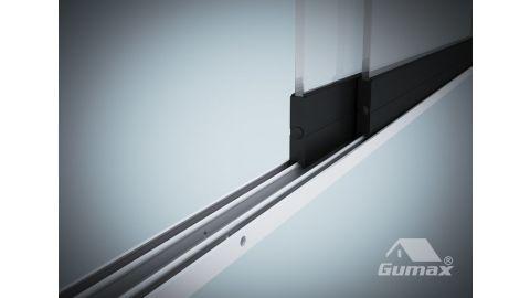 Gumax glazen schuifwand 2-rail close-up