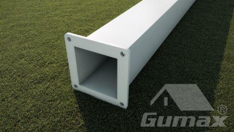 Staander modern mat wit 2500mm