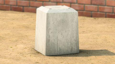 Gesloten betonpoer