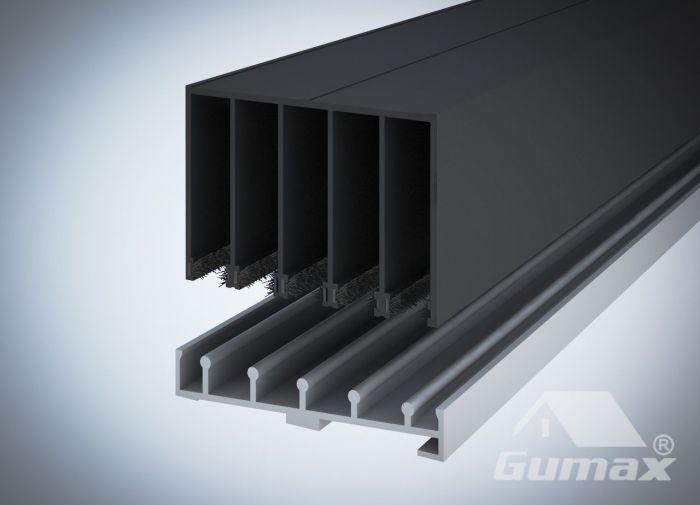 Schuifdeuren Met Railsysteem.5 Railsysteem Glazen Schuifdeuren Excl Glas In Antraciet Uitvoering