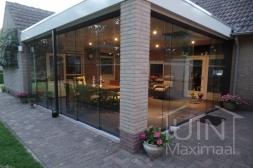 Gumax® Glazen schuifwanden voor aanbouw in mat antraciet zonder accessoires