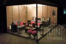 Gumax® Glazen schuifwanden in mat antraciet zonder accessoires