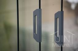 Gumax® deurgrepen voor glazen schuifwanden in mat antraciet