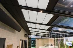 Gumax® Zonwering in mat antraciet en Gumax® LED verlichting