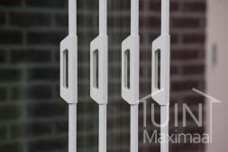 Gumax® accessoires voor glazen schuifwanden in mat wit, deurgrepen