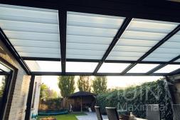 Gumax® Terrasoverkapping inclusief elektrische Zonwering in mat antraciet