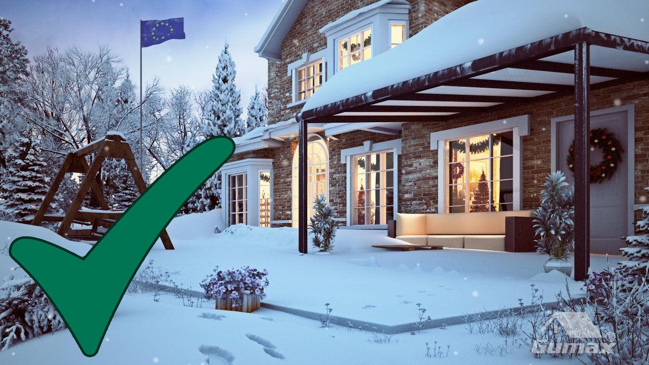 terrasoverkapping bestand tegen meter verse sneeuw