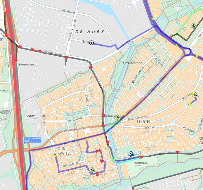 Route marathon Eindhoven